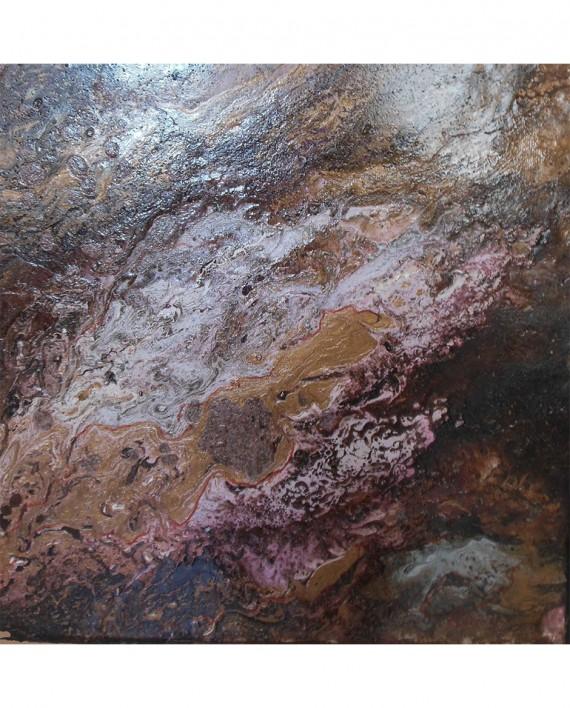 N°5 composition abstraite Eaux 30x30