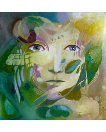 N-¦ 5 - Fragments acrylique sur toile 60 par 60 cm