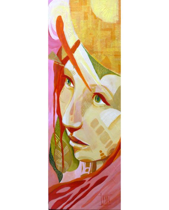 N-¦ 6 - Annabelle acrylique sur toile 20 par 60cm